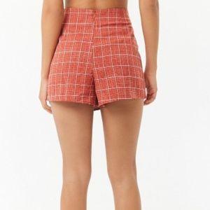 Forever 21 Shorts - NWT Grid Wrap-Front Skort